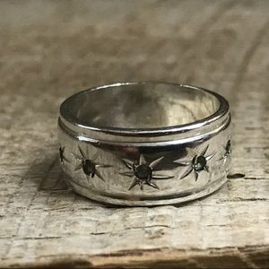 Jewelry - Sterling Silver ESPO Ring w/ Clear Stone Accents